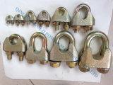 Calage galvanisé de collier de fil ajustant le clip de câble métallique DIN 1142