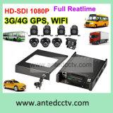 Gravador de vídeo elevado áspero da definição 1080P Digitas para o caminhão do carro do barramento do veículo