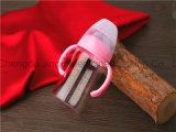 alto OEM y ODM de la botella de bebé del vidrio de Borosilicate 180ml dados la bienvenida