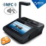 Toque POS Tablet exclusiva tienda de equipos con la impresora y el dedo Reader