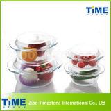 Transparent en verre résistant à la chaleur Casserole ronde