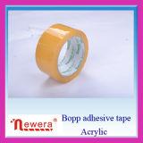 Cinta de empaquetado amarilla del embalaje de la cinta del rectángulo de papel