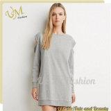 Robe de dames Hoodie de femmes de coton de chemise de modèle neuf de mode longue