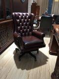 Alta silla de la oficina del cuero posterior del eslabón giratorio de cuero clásico de los muebles de oficinas (OC007)