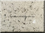 Surface solide de couleur d'étincelle de pierre artificielle blanche de quartz pour des partie supérieure du comptoir ou Materails de construction