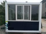 Camera del contenitore con il grande negozio prefabbricato di vetro del contenitore di Windows