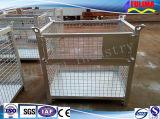 Stackable гальванизированная складная клетка металла провода хранения (FLM-K-014)