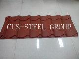 Hoja de metal corrugado de tejado de material / color acero de techo