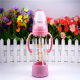 240ml Crystal Diamond Baby Glass Bottle mit Bottom Set