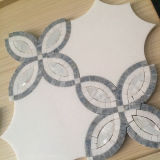 Nice Looking White Mosaic Tile, Waterjet Marble Stone