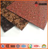 PE/PVDF軽量のLowesの価格の石の穀物の合成のパネル(AE-501)