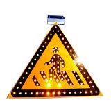 포장 도로 안전 느린 도보 LED 소통량 도로 경고 표시