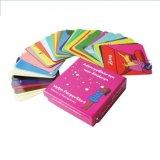 Cartão de jogo dos miúdos coloridos/cartões jogo do papel/cartões de papel do póquer
