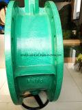 Válvula de borboleta dobro da flange com caixa de engrenagens (D341X-10/16)