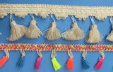 2017 accessori della sciarpa della nappa del merletto della tenda di modo