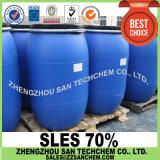 Sulfato Dodecyl de sódio SDS do material detergente SLES 70% 70%
