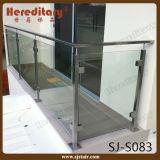 ステンレス鋼(SJ-S083)を柵で囲むホテル階段のためのガラスBaluster