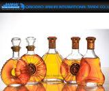 Frasco de vidro do vinho dos produtos vidreiros famosos clássicos para o uísque, vodca