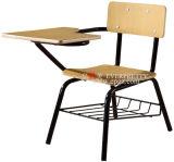 Cadeira de esboço de madeira da mobília de escola com almofada de escrita