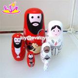 Personalizar el pastor de anidación de muñecas de madera pintadas a mano para los niños con W06D097