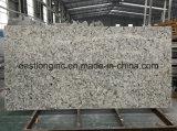Pedra de quartzo da engenharia de mármore artificial de laje de lado a bancada