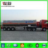 De ruwe olie die van het roestvrij staal de Aanhangwagen van de Vrachtwagen van de Tanker van de Brandstof Vervoer
