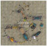 O campo de jogos ao ar livre de escalada ao ar livre do sistema de Kaiqi combinou com os multi jogos do jogo (KQ60134A)