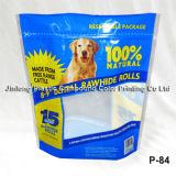 Aliments pour animaux sac en plastique avec poignée