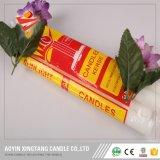 weiße geriffelte Kerzen 400g zu Mosambik/zu Johanesburg