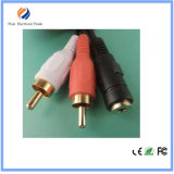 3.5mm 1.5m 3RCA Mannelijke Video-audio Kabel AV voor TV