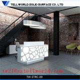 Bureau de réception à LED blanc brillant et blanc Bureau de réception moderne à haute luminosité