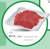 De Plaat van het Vaatwerk van de Melamine van 100%/van Platesquare van het Vlees van de Melamine (WTA77)