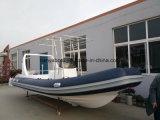 Barca gonfiabile di lusso della nervatura della barca 6.6m Cina di alta qualità