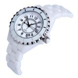 El movimiento del cuarzo tiende los relojes de cerámica de las señoras impermeables