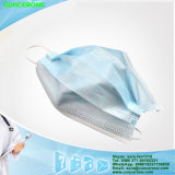 N95 3ply Descartável Nonwoven Flat Face Mask com Tie on