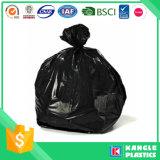 Sacchetto di immondizia nero dell'HDPE su rullo al prezzo di fabbrica