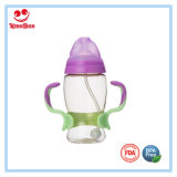 Frasco de alimentação personalizado do bebê do produto comestível PPSU com punho