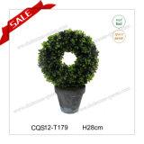 Decoração do casamento do Topiary de Aritificial do PE de H28cm