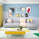 Ultimo sofà di arte del panno per stile moderno del tessuto 123 della mobilia del salone dello strato stabilito di combinazione