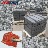 Peça de máquinas de mineração, revestimentos resistentes ao desgaste