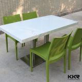 人工的な石造りの固体表面の白いコーヒーテーブル(V71012)