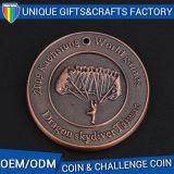 Alta Qualidade banhado a ouro antigo desafio moeda metálica em 3D