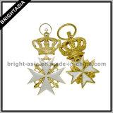 Crown Golden PRO Esmalte Keychain para presente comercial (BYH-10693)