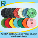 As almofadas de polonês do diamante de Romatools molharam o uso para o mármore, granito, assoalho