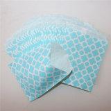 Sacchi di carta blu a strisce ecologici del fiore per il partito