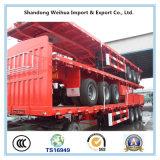 De Semi Aanhangwagen van de Lading van de Omheining van de tri-as voor Vervoer van het Vee