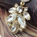 투명한 수정같은 유리 모조 다이아몬드 긴 결혼식 하락 귀걸이