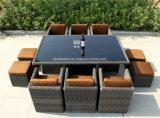 La Tabella esterna popolare stabilita della Tabella del rattan del rattan Furniture/PE ha impostato (SC-A7199-H)