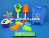 Plastikstrand-gesetztes Spielzeug. Sommer-Spielzeug-Strand-Wanne, Spaten (107093)