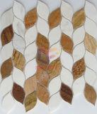 Telha de mosaico de pedra de corte de água como a folha de água (CFS1147)